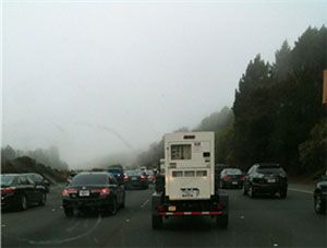 driving in rain and fog