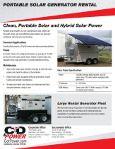 Portable, rentable Solar Power